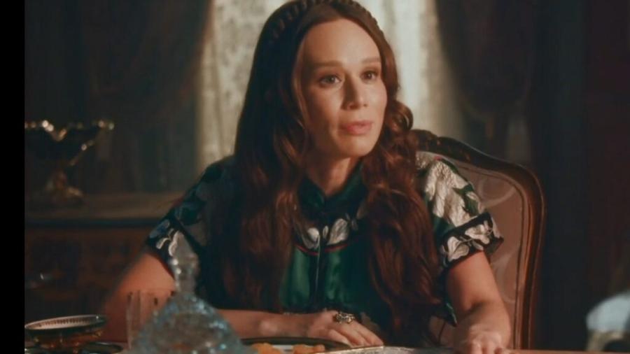 Luísa (Mariana Ximenes) em Nos Tempos do Imperador (Reprodução/TV Globo). - Reprodução / Internet