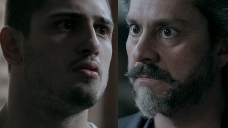 João Lucas (Daniel Rocha) e José Alfredo (Alexandre Nero) em Império - Reprodução / Internet