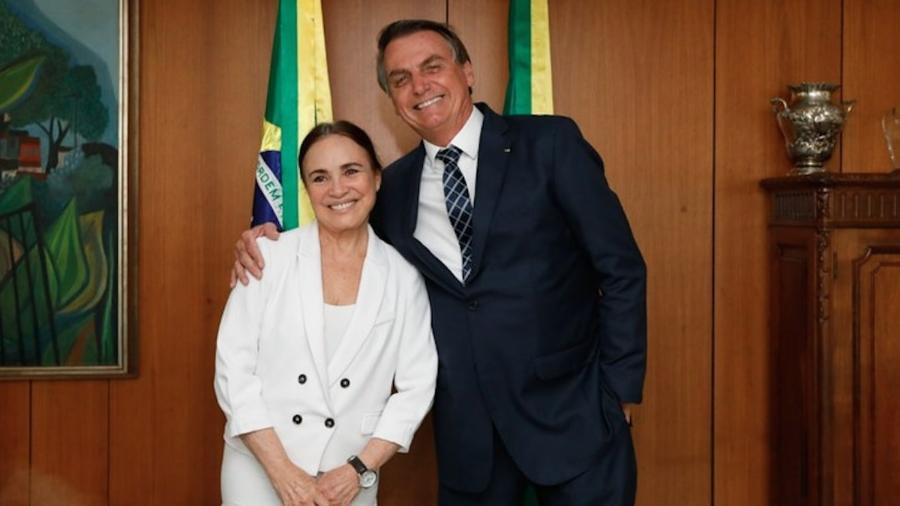 Regina Duarte e Jair Bolsonaro - Divulgação/Governo Federal