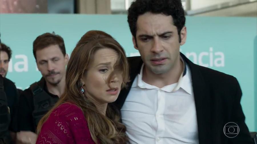 Tancinha (Mariana Ximenes) e Beto (João Baldasserini) em Haja Coração (Reprodução/TV Globo). - Reprodução / Internet