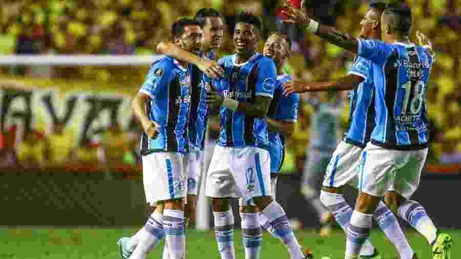 Time gaúcho venceu com autoridade no Equador e ficou muito próximo da final - Lucas Uebel/Grêmio FBPA