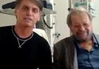 De hospital, Bolsonaro divulga vídeo ao lado de Carlos Vereza - Reprodução de vídeo/@jairbolsonaro via Twitter