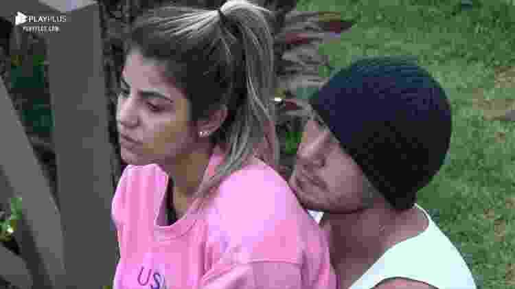 Hariany Almeida e Lucas Viana em A Fazenda 11 (Foto: Reprodução/ Record TV)