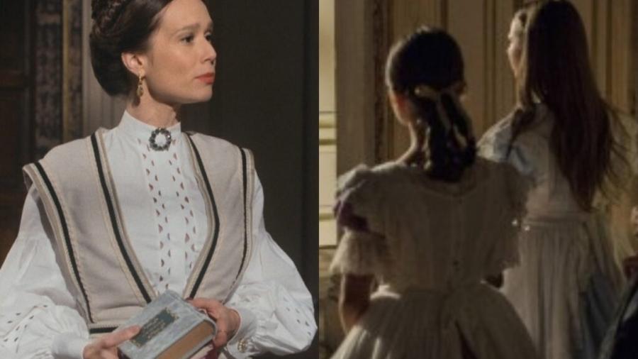 Luísa e princesas Isabel e Leopoldina em Nos Tempos do Imperador (Reprodução) - Reprodução / Internet