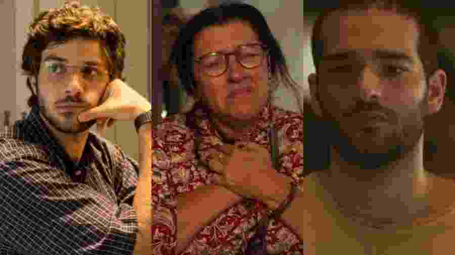 Danilo (Chay Suede) e Sandro (Humberto Carrão) podem ser Domênico, o filho desaparecido de Lurdes (Regina Casé) em Amor de Mãe (Divulgação/TV Globo) - Danilo (Chay Suede) e Sandro (Humberto Carrão) podem ser Domênico, o filho desaparecido de Lurdes (Regina Casé) em Amor de Mãe (Divulgação/TV Globo)