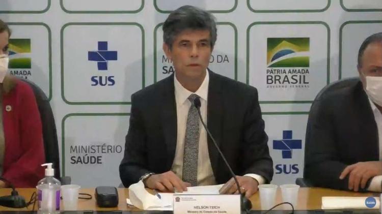 Nelson Teich -                                 REPRODUÇÃO/MINISTÉRIO DA SAÚDE                              -                                 REPRODUÇÃO/MINISTÉRIO DA SAÚDE