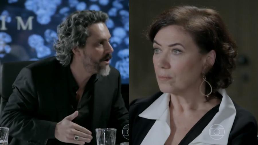 José Alfredo (Alexandre Nero) e Maria Marta (Lília Cabral) em Império (Reprodução / Globo) - Reprodução / Internet