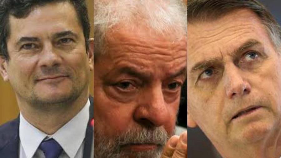 Sergio Moro, Lula e Bolsonaro ficam respectivamente nas três primeiras colocações em ranking de confiabilidade do Datafolha  -  Agência Brasil .