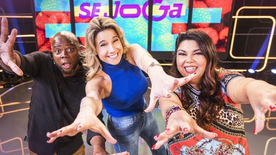 Érico Brás, Fernanda Gentil e Fabiana Karla, apresentadores do Se Joga - Divulgação/TV Globo