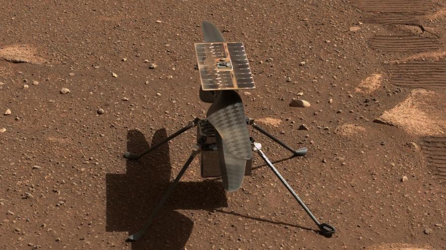 Nasa faz teste de voo do helicóptero Ingenuity em Marte - Imagem: NASA/JPL-Caltech/ASU