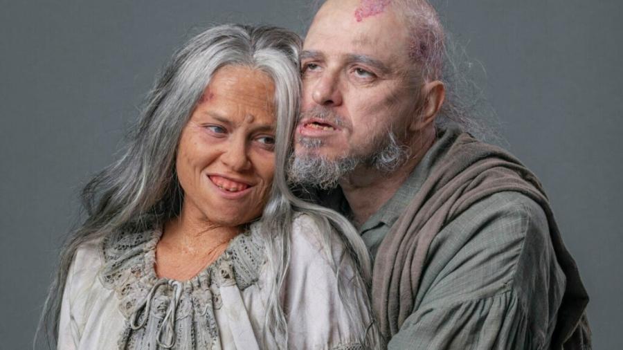 Germana (Vivianne Pasmanter) e Licurgo ( Guilherme Piva) de Nos Tempos do Imperador (Divulgação/Globo) - Reprodução / Internet