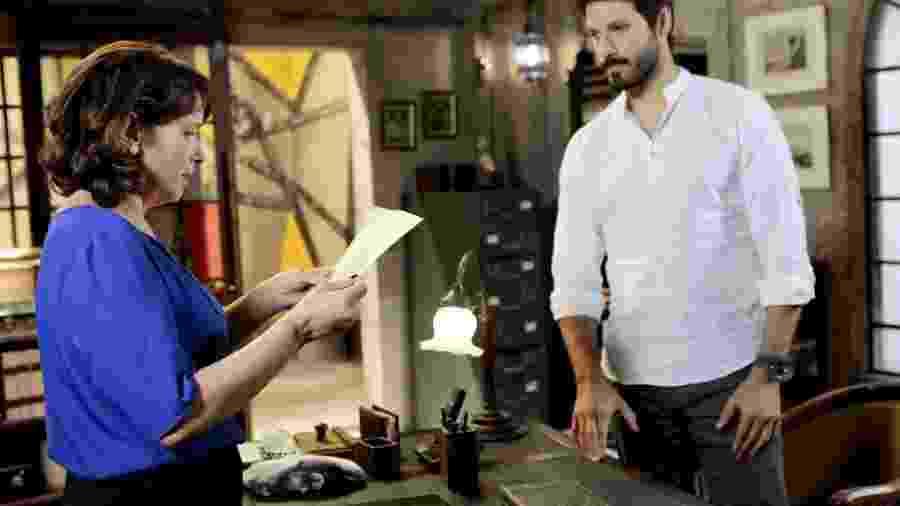 Myrian Rios e Murilo Cézar como Ruth e Marcelo em As Aventuras de Poliana (Lourival Ribeiro / SBT) - Lourival Ribeiro / SBT