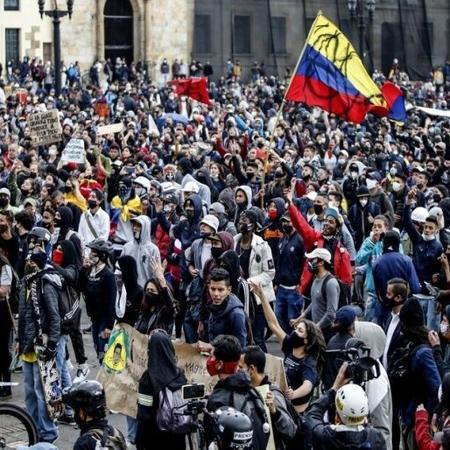 Número de mortos em protestos na Colômbia aumenta; ONU e UE pedem calma - Reprodução/Twitter
