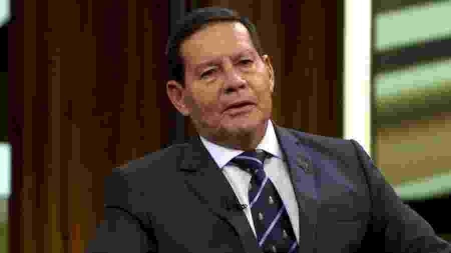 O vice-presidente Antônio Hamilton Mourão em entrevista ao programa Conversa com Bial - false