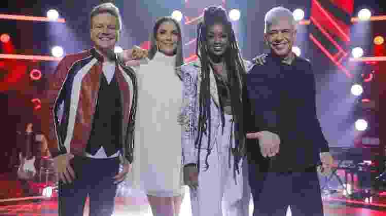 Ivete Sangalo, Michel Teló, Lulu Santos e Iza, técnicos do The Voice Brasil - Globo/ Victor Pollak
