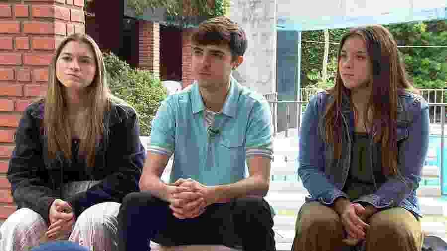 João Augusto, Sofia e Marina, filhos de Gugu falaram à Record - Divulgação
