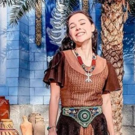 Cássia Sanches como Adalia em Gênesis (Arquivo pessoal) - Reprodução / Internet