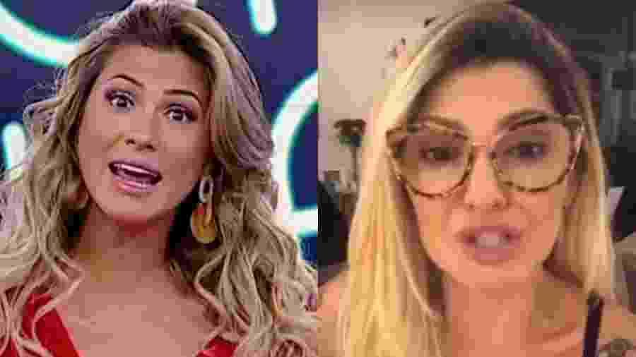 Antonia Fontenelle detonou Lívia Andrade, apresentadora do Fofocalizando (Reprodução/SBT/Instagram) -