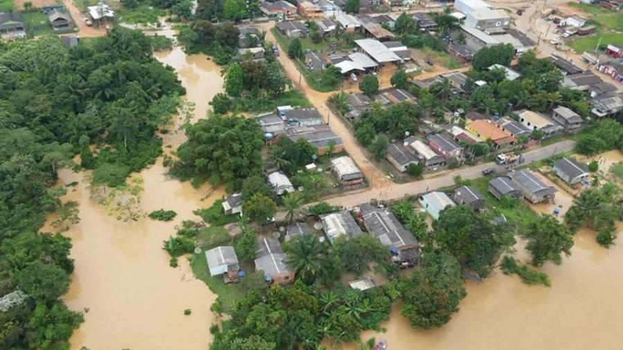 Acre decreta estado de calamidade pública devido a enchentes - Divulgação Secom Acre
