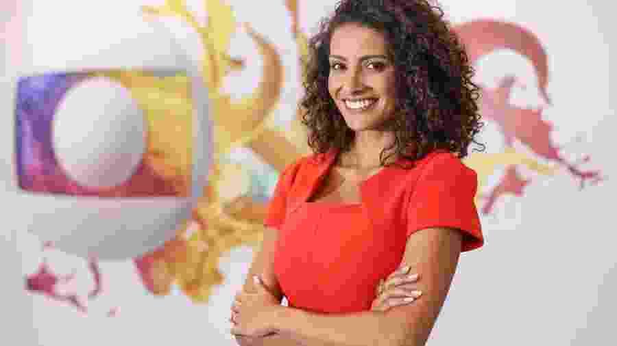 Aline Aguiar e outros dois âncoras entraram para o time do JN - Aline Aguiar: nova apresentadora do MG1 é figura principal de mudanças na Globo Minas (Divulgação/Globo)
