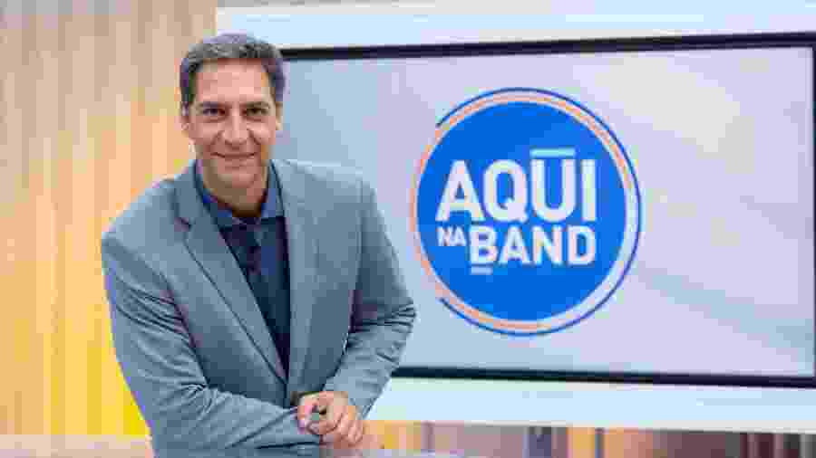 "Luís Ernesto Lacombe, afastado do ""Aqui na Band"" - Kelly Fuzaro/Band"
