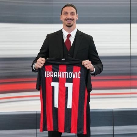 """Ibrahimovic renova contrato por mais um ano e se tornará """"quarentão"""" no Milan - Divulgação/Milan"""