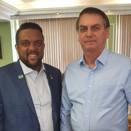 O deputado Otoni de Paula (PSC-RJ) e o presidente Bolsonaro  - Reprodução/Facebook