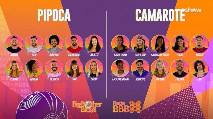 """Os 20 participantes do """"Big Brother Brasil 21"""" foram revelados nesta terça-feira (19)                              - TV GLOBO/DIVULGAÇÃO"""