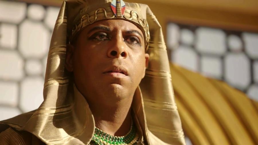 Faraó Amenemhat (André Ramiro) em Gênesis (Divulgação/ Record TV) - Reprodução / Internet