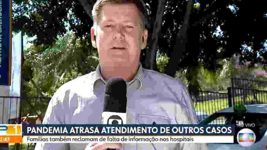 O repórter Renato Peters, no SPTV,  da Globo - Reprodução / Internet