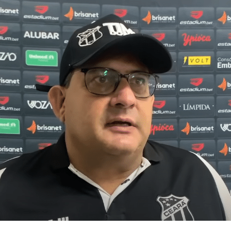 Guto Ferreira durante coletiva de imprensa - Reprodução/ YouTube