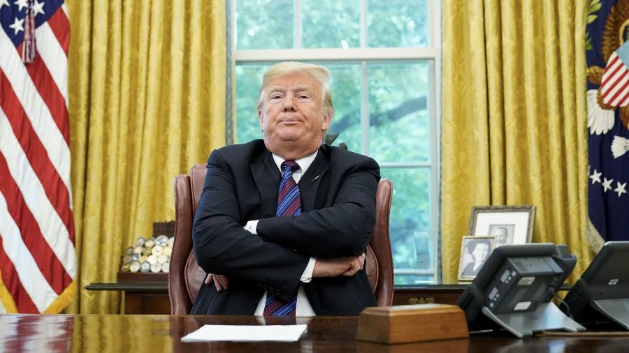 Donald Trump se diz alvo de mentiras e silenciamento nas redes - Imagem: Mandel Ngan (Getty Images)