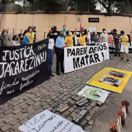 Moradores protestam contra operação policial no Jacarezinho - Reprodução/Twitter