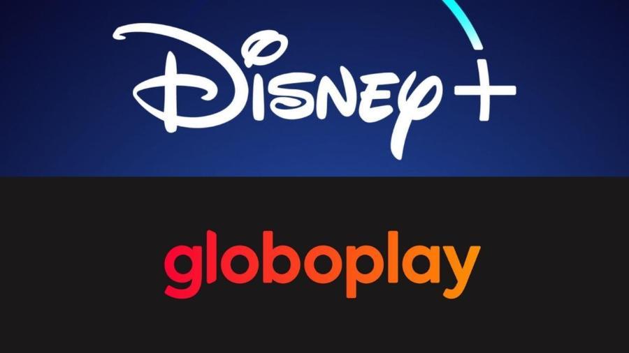 Os parceiros de streaming Disney+ e Globoplay - Reprodução / Internet