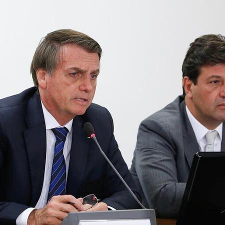 """Bolsonaro: """"Mandetta é aquele do fique em casa e continue sem ar"""" - Reprodução/Flickr Palácio do Planalto"""