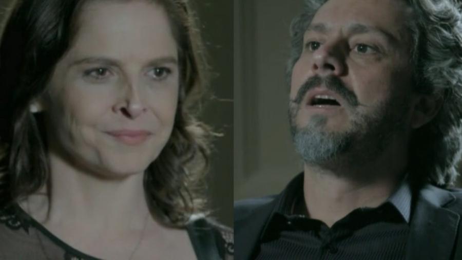 Cora (Drica Moraes) e José Alfredo (Alexandre Nero) em Império (Reprodução/Globo) - Reprodução / Internet