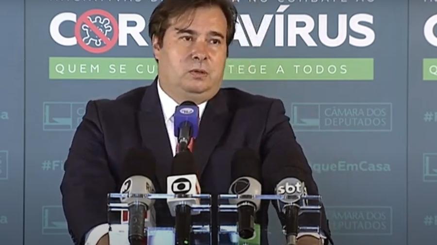 """Governo está """"desesperado"""" por comando da Câmara para passar agenda de costumes, diz Maia - Rodrigo Maia [Reprodução/ Youtube Câmara]"""