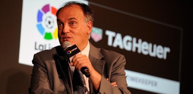 Presidente da Liga Espanhola desconfia das ações financeiras do PSG - false