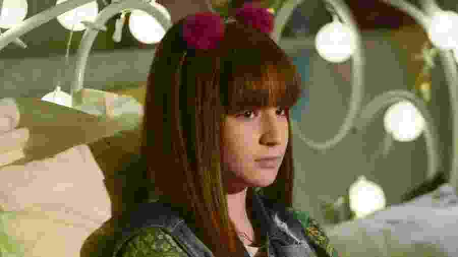 Poliana (Sophia Valverde) em As Aventuras de Poliana (Divulgação: SBT) - Poliana descobre sobre sua paternidade (Divulgação: SBT)