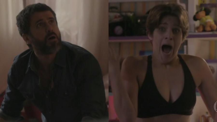 Gael (Eriberto Leão) e Karina (Isabella Santoni) em Malhação (Reprodução/Globo) - Reprodução / Internet