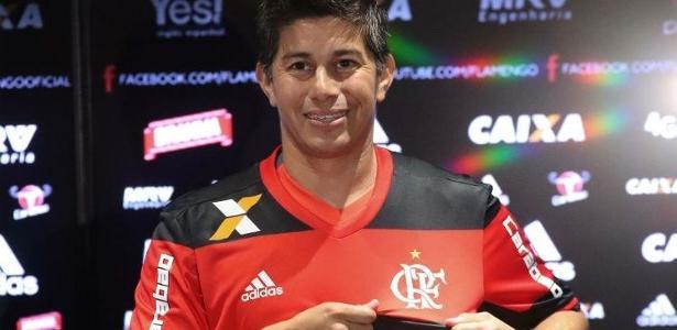 Darío Conca segue em baixa no Flamengo