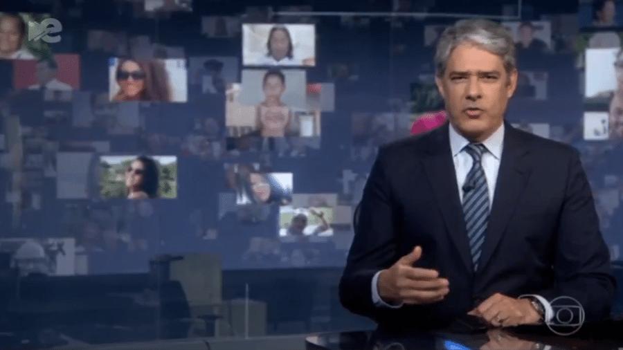 """William Bonner, apresentador do """"Jornal Nacional""""  - Reprodução / Internet"""