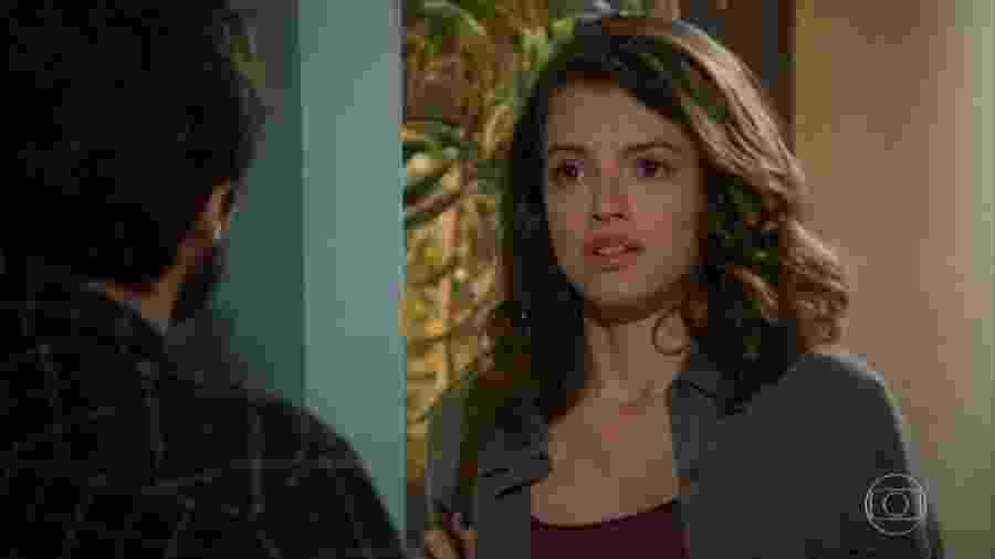 Giovanni (Jayme Matarazzo) e Camila (Agatha Moreira) em Haja Coração (Reprodução/TV Globo). - Reprodução / Internet