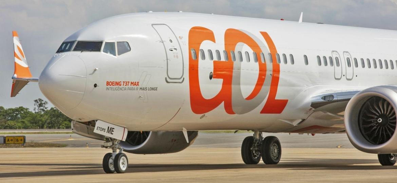 Um dos sete Boeing 737 Max recebidos pela Gol e que estão parados desde março - 737-max-gol1