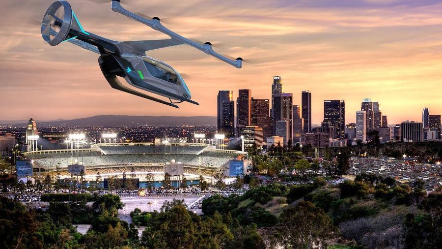 O eVTOL, que está em desenvolvimento, é um veículo elétrico de pouso e decolagem vertical - Embraer Digital/Divulgação