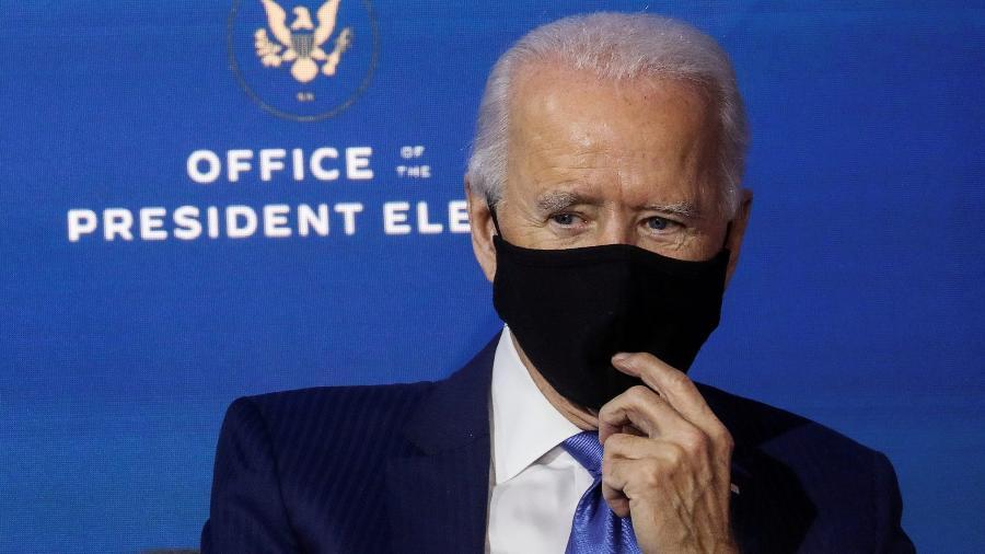 O presidente eleito dos Estados Unidos, Joe Biden, em evento de nomeação da sua equipe econômica - Leah Millis/Reuters