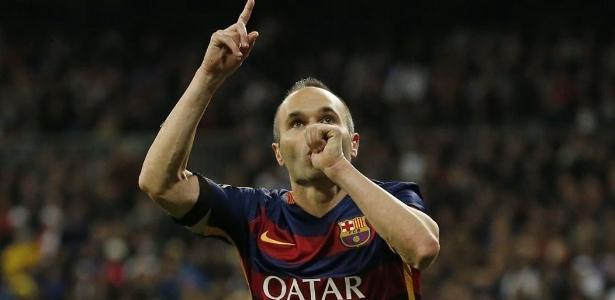 Iniesta, 33, em partida pelo Barcelona