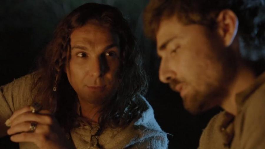 Lúcifer (Igor Rickli) e Jacó (Miguel Coelho) de Gênesis (Reprodução - Record TV) - Reprodução / Internet