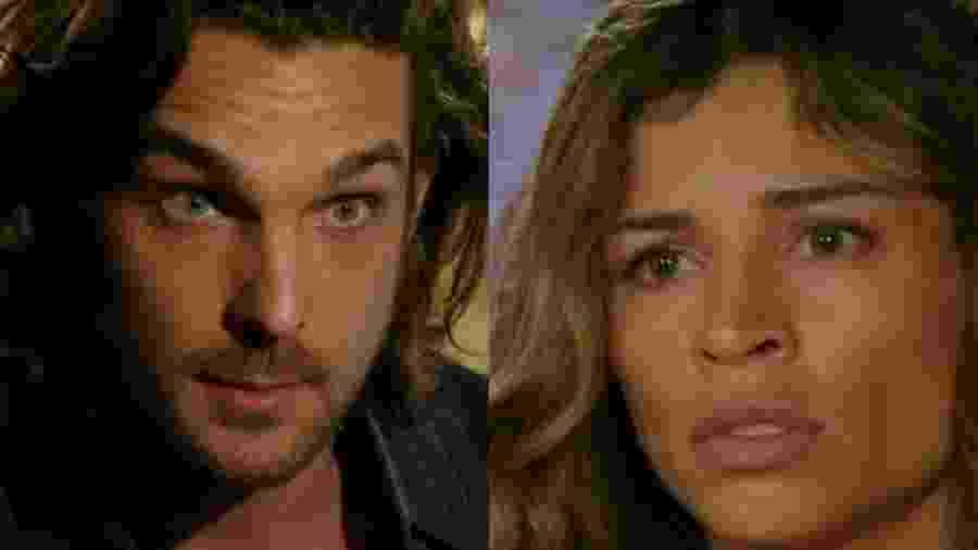 Alberto (Igor Rickli) e Ester (Grazi Massafera) de Flor do Caribe (Reprodução - TV Globo) - Reprodução / Internet