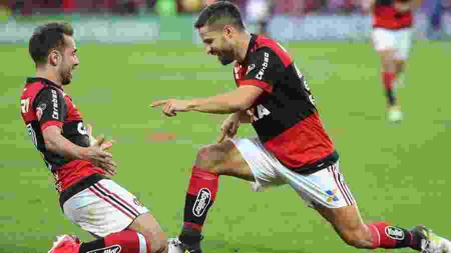 Os craques Everton Ribeiro e Diego jogarão juntos em breve no time do Flamengo - Gilvan de Souza/Flamengo